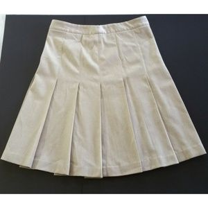 Theory Size 6 Pleated Skirt Wool Blend Tan